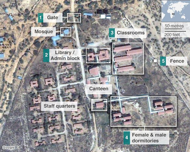 Map of Garissa University. Photograph: BBC.com