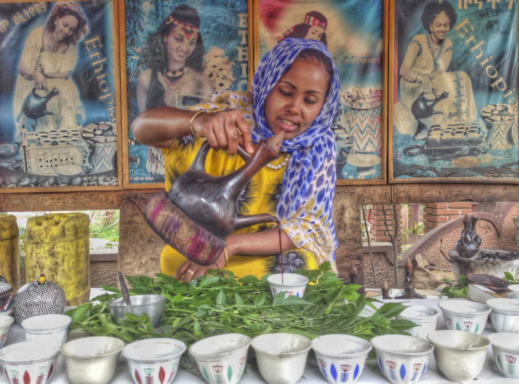 Coffee ceremony in Moyale, Ethiopia.