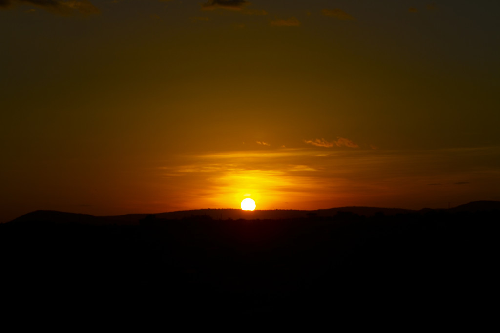 Sunset in Moyale, Ethiopia.