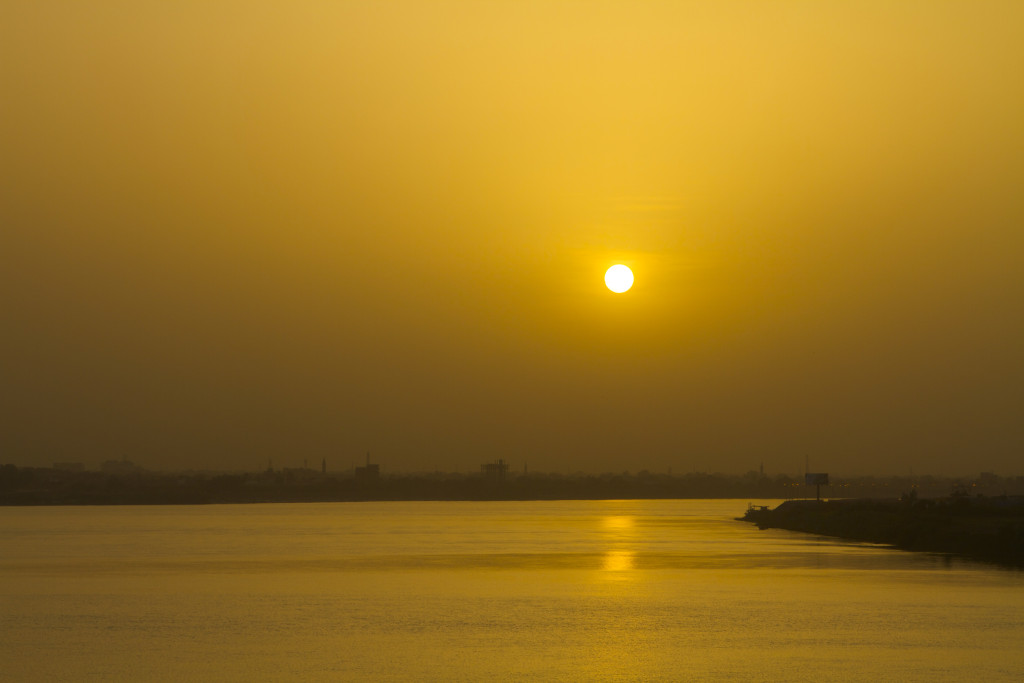 Sunset over the White and Blue Nile.
