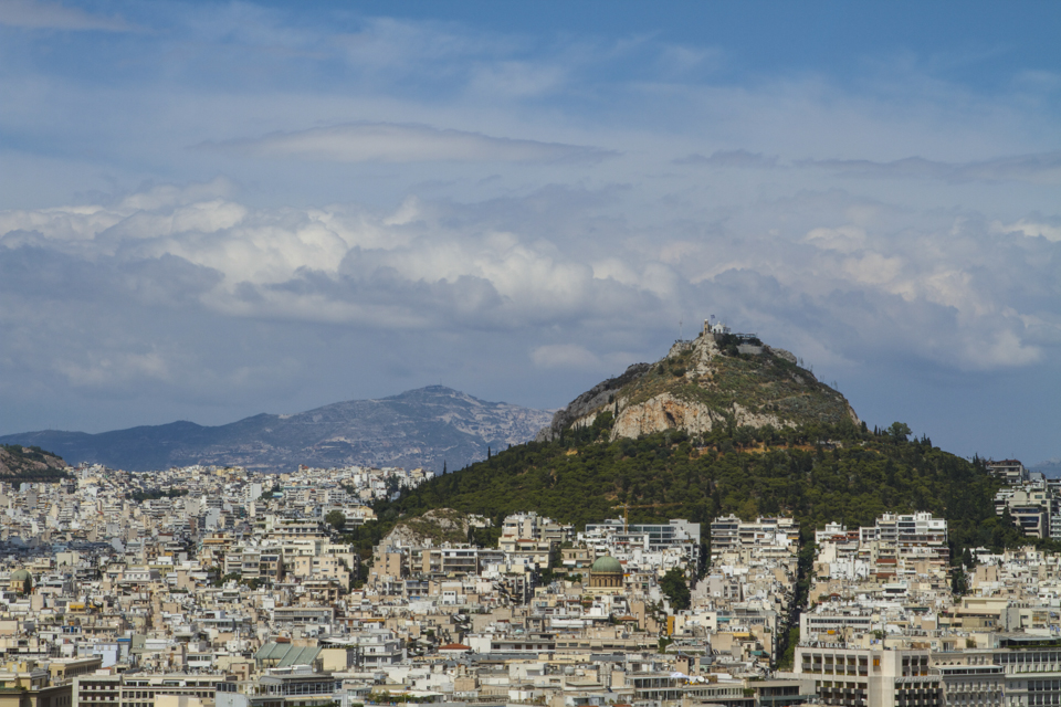 View from Lykavittos Hill in Athens.