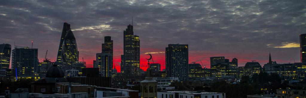 London Skyline from my flat.